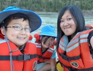 Mylo (age 8), Chloe (age 9), and Sarah (UBC Grad student).
